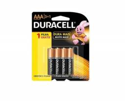 Promo - 4 Pilhas Duracell Alcalina Aaa Palito Mn2400b4 1,5v