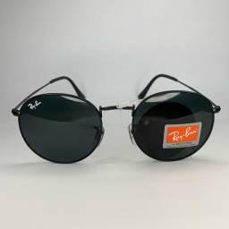 Óculos de sol - Round Black