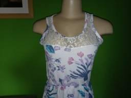 Título do anúncio: Vestido em Malha Estampada Floral - Tamanho P