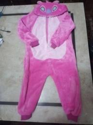 Pijama infantil fleece stitch rosa