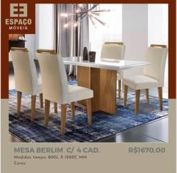 Título do anúncio: Mesa Berlim com 4 Cadeiras #Entrega e Montagem Grátis