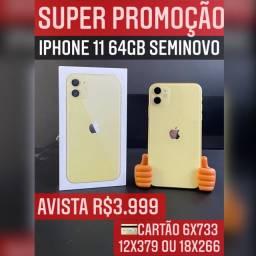 IPHONE 11 64GB SEMINOVO, ACEITAMOS SEU IPHONE USADO COMO PARTE DO PAGAMENTO.