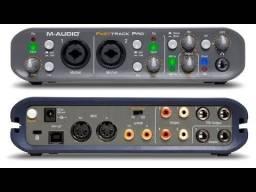Título do anúncio: M-Audio Fast Track Pro