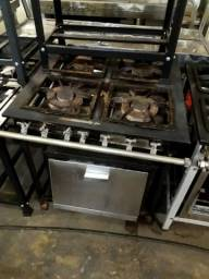 Fogão industrial 4 bocas, com forno e com garantia