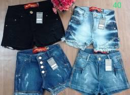 Shorts jeans com elastano