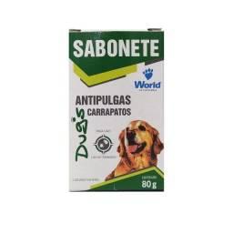 Título do anúncio: Sabonete Dugs Antipulgas E Carrapatos P/ Cães 80g- Word Veterinária