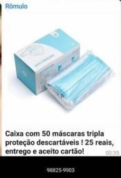 CAIXA DE MÁSCARAS ENTREGA GRÁTIS