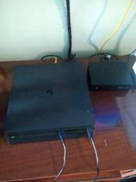 (aceito cartão) PS4 Slim 500gb + playstationvr + joysticks + jogos
