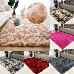 Vendo lindos tapetes felpudos antiderrapantes e antialérgicos - tamanhos 2,00x1,40m