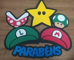 Kit - Decoração de festa - Super Mário
