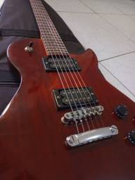 Título do anúncio: Guitarra Les Paul Washburn Wine Sunburst