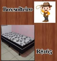 Cama box solteiro/Base/Colchão (Temos kits cama casal + solteiro)