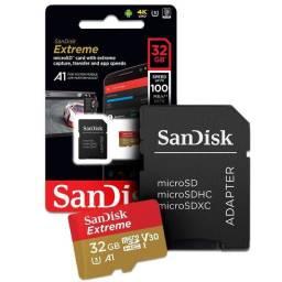 Cartão De Memória Micro SD 32GB Sandisk Extreme 4K UHD 100MB/S - Loja Dado Digital