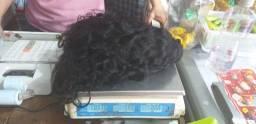 cabelo humano na tela