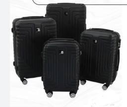 (E) Kit 4 Malas de viagem ABS Novas 360°