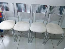 Mesa de vidro + 4 cadeiras watts * valor negociável.