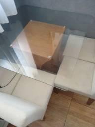 Título do anúncio: Mesa de vidro com 4 cadeiras