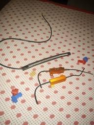 Fita de led e resistor
