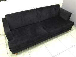 Título do anúncio: Lindo sofá preto novo