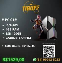 Título do anúncio: PC Gamer - I5 3470s | 4GB/8GB | SSD - Cobrimos Ofertas!