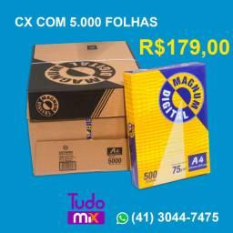 Caixa de papel A4 Magnum Brasil 75GRS c/ 5000 Folhas