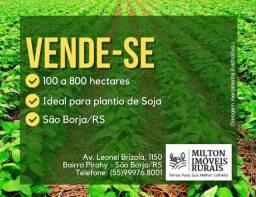 Áreas de até 800ha para plantio de soja em São Borja