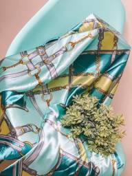 Lenço de seda tendência moda blogueiras novo cropped