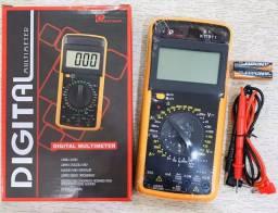 Título do anúncio: Multímetro Digital Com Capacímetro e Beep DT9205A Profissional