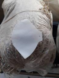 Mascaras de proteção lavável branca em TNT 100 grs.- r$0,50 unidade
