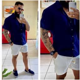 Camisas de linho e conjuntos masculino