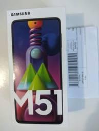 Samsung Galaxy M51 Branco lacrado +Nf
