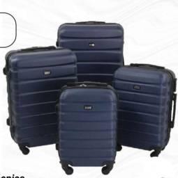 (G) kit com 4 Malas de viagem ABS 360 NOVAS