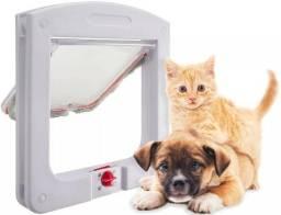 Porta Pet Door - 4 Funções Vai E Vem Para Gatos E Cachorros