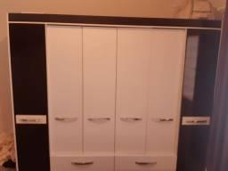 Quarto casal (cama box + guarda roupas 6 portas e 6 gavetas)