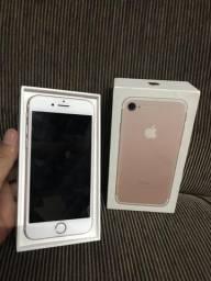 Troco Iphone 7 32GB Rose completo