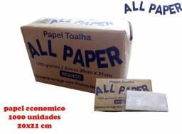 Papel Toalha Branco Interfolha 1.000fls