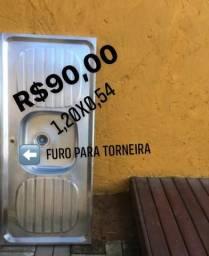 Cuba inox1,20x0,54 com furo para torneira