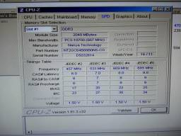 Memória DDR3 2GB PC3 10600S