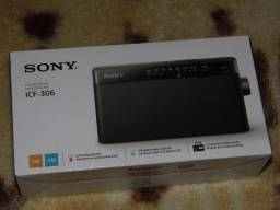Radio Sony ICF-306 am/fm nivel superior caixa lacrada entregamos em Poa-rs
