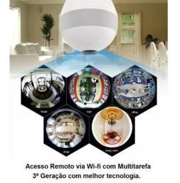 Lâmpada wifi, Câmera Segurança, Visão 360, Android, Iphone Wi-fi