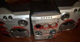 Aparelho de som FM WM57 Philips com Gameport & MaxSound (não reproduz cd/dvd)