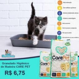 Granulado Higiênico de Madeira Care Pet a partir de $6,50