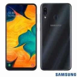 Samsung Galaxy A30 32gb 3gb Ram Preto + Brindes