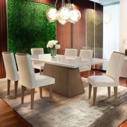Mesa de Jantar com 6 Cadeiras J69 - Luna