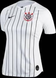 Camisa Feminina Corinthians Home 2019/2020 Pronta Entrega