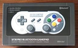 Controle bluetooth 8Bitdo SF30 Pro (Switch) NOVO