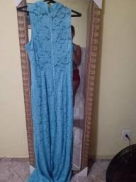 Vestido magrinha azul tifany