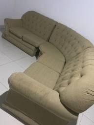 Sofá esverdeado para 5 pessoas (Conservado)