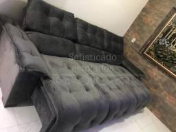 Sofá super luxo reclinável retrátil