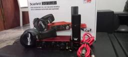Kit focusrite scarleet 2i2 studio 3 geração